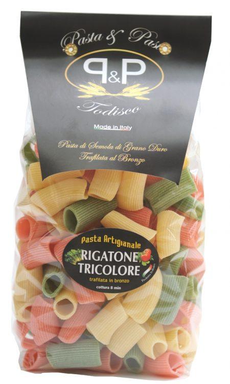 Rigatone tricolore